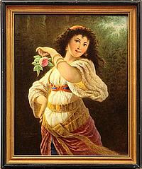 Painted porcelain plaque