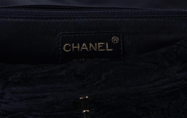 d576c7007552 Chanel Persian lamb medium flap handbag, executed in black, with strap,  label to