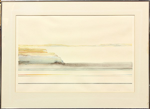 Watercolor, Peter Kitchell, Desert Landscape