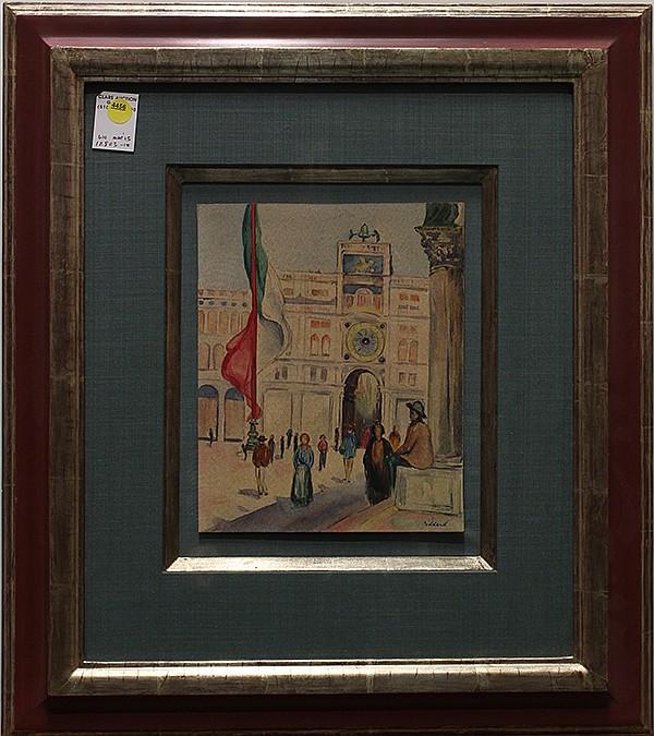 Paulette Goddard, Palacio National, watercolor