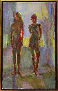 Painting, Fredric Dalkey, ''Two Models,'' 1994
