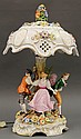 German porcelain figural table lamp