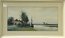 Watercolor, George Leonard Herdle
