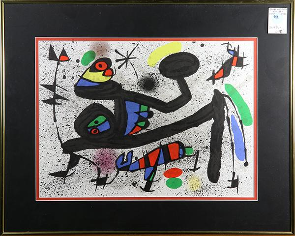 Print after joan miro derriere le miroir for Derriere le miroir miro