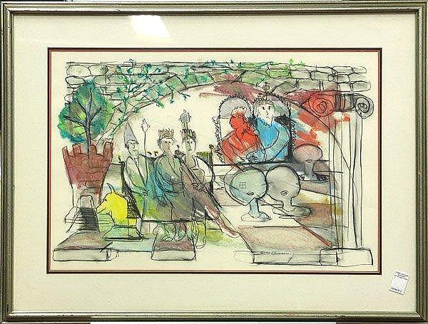 George Kleiman watercolor American