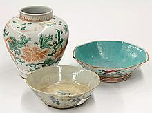 Chinese Ceramic Bowls and Jar