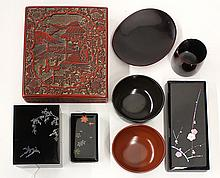 Japanese Lacquered Boxes and Bowls