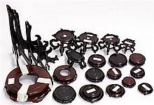 Box of Chinese Wood Stands, Assorted Style and Size: