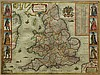 Hand-Colored Map, Abraham Goos, Abraham Goos, Click for value