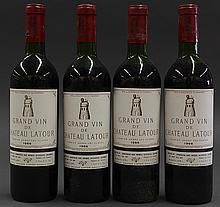 (lot of 4) 1966 Chateau Latour, Pauillac, France, each 750ml