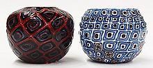 Art glass vases by Michael Nourot
