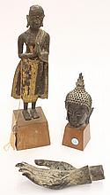 Three Thai Bronze Buddhist Figures