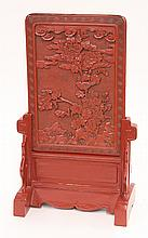 Japanese Vermilion Lacquered Tablet
