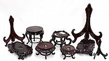 Group of Chinese Plate Stands and Bases