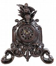 Swiss Black Forest mantle clock