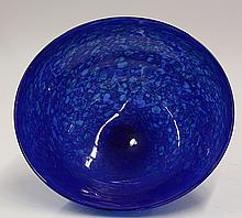 David Lindsay art glass center bowl