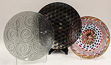 Art glass chargers