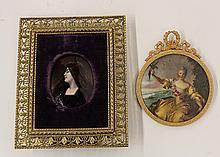 Continental portrait plaques