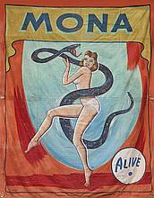 Circus Side Show Banner, Snap Wyatt, Mona