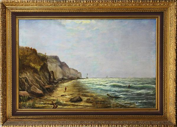 Figure Near a Shipwreck, painting