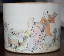 Chinese Porcelain Vase, Pine/Prunus