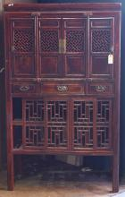 Chinese Lacquered Wooden Kitchen Cabinet