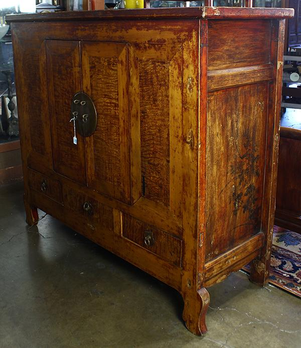 Chinese Lacquered Wood Cabinet
