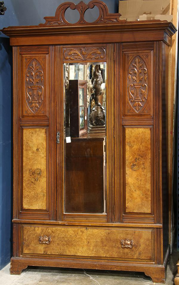 Edwardian single door armoire