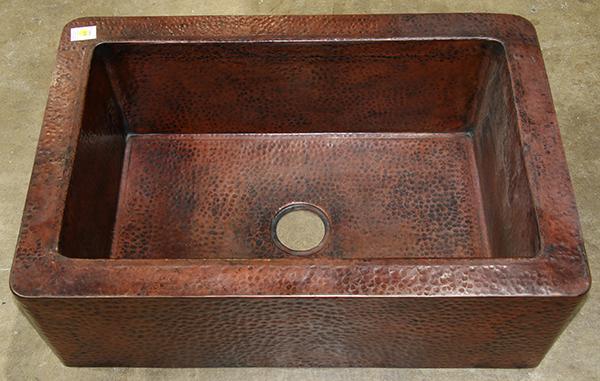 Copper farm sink, 11