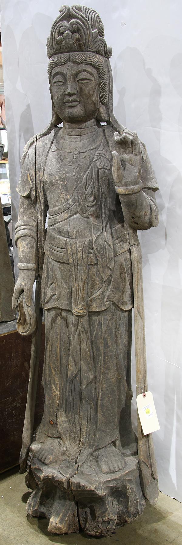 Chinese Wood Figure of Bodhisattva