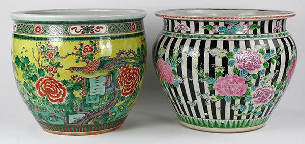 Chinese Fish Bowl and Japanese Planter