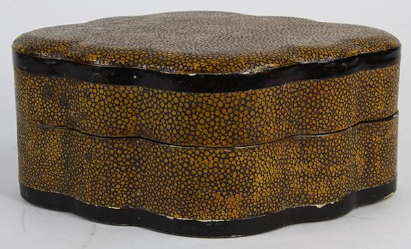 Chinese Shagreen Lacquered Box