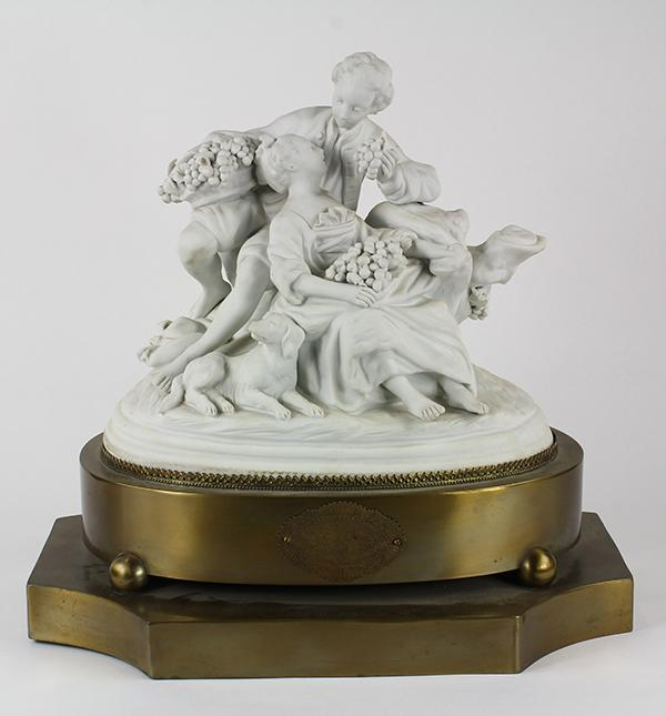 French parian ware figural group