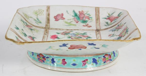 Chinese Enameled Footed Dish