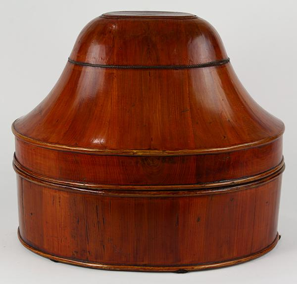 Chinese Wood Hat Box