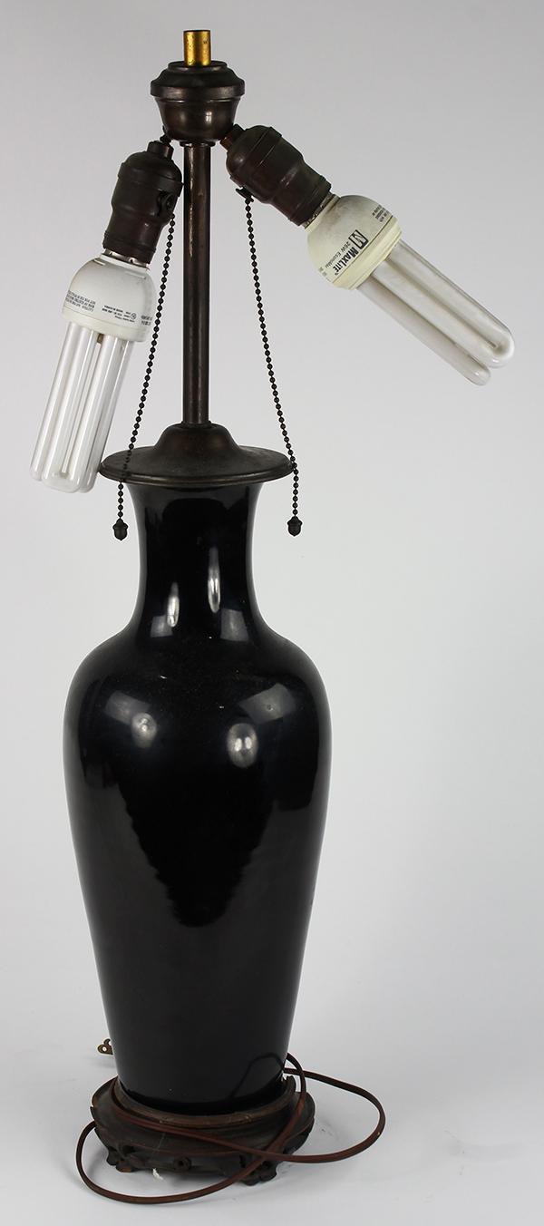 Chinese Mirror Black Vase/Lamp