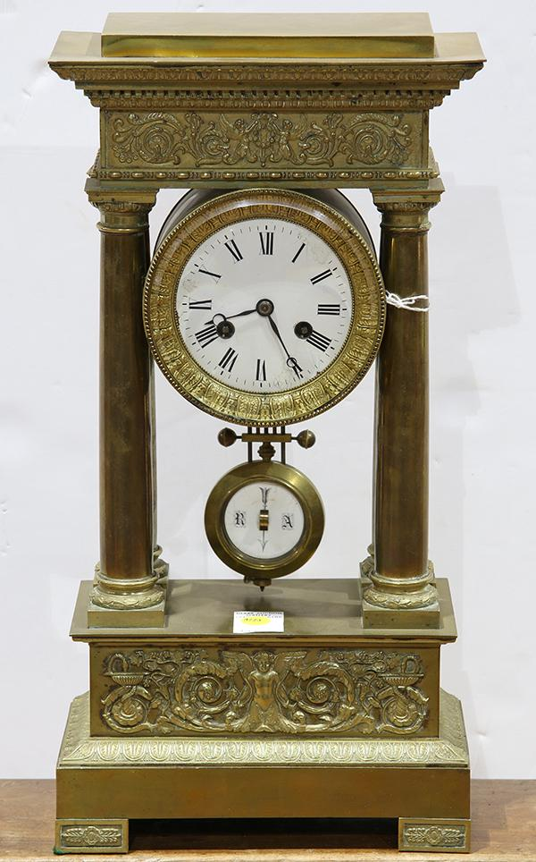 French Empire style portico clock circa 1890