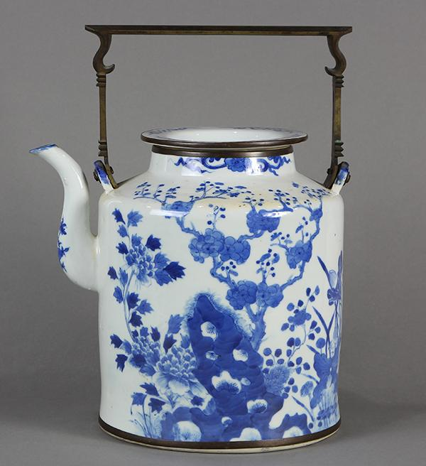 Chinese Large Blue and White Teapot