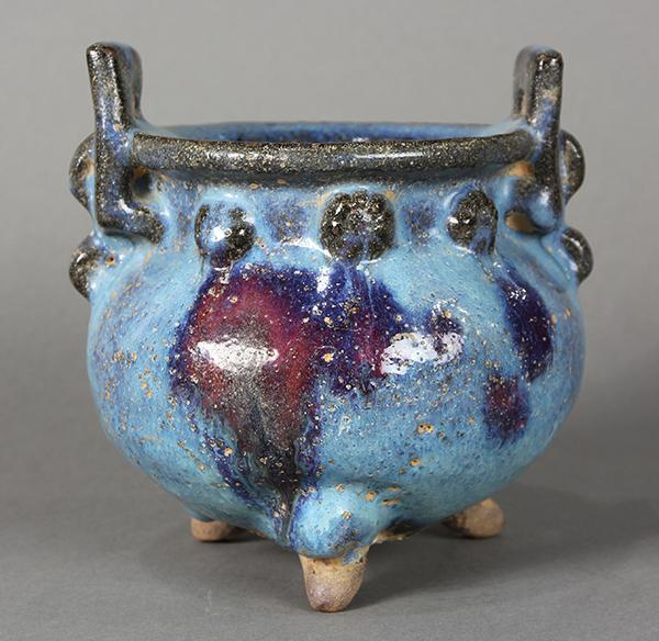 Chinese Jun-type Tripod Censer