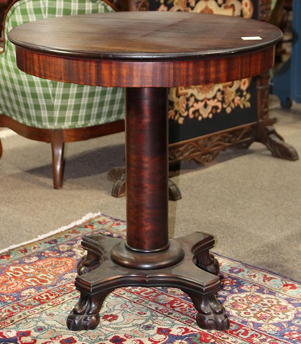Empire style mahogany side table