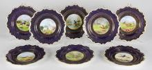 (lot of 8) Royal Worcester cabinet plates