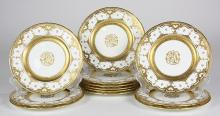 (lot of 12) Coalport porcelain dinner plates, retailed by Tiffany & Co