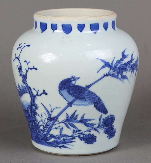 Chinese Blue-and-White Porcelain Jar
