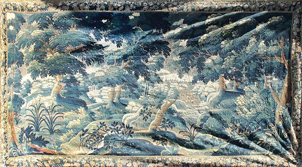 Flemish verdue tapestry 17th century