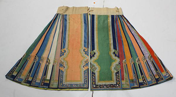 Chinese Two Panel Skirt