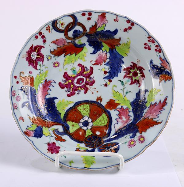 Chinese Export Tobacco Leaf Bowl