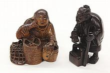 Japanese  Wooden Netsuke