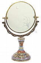 Chinese Cloisonne Enameled Mirror