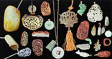 Group of Chinese Hardstone/Jade Toggles