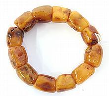 Chinese Amber Bead Bracelet